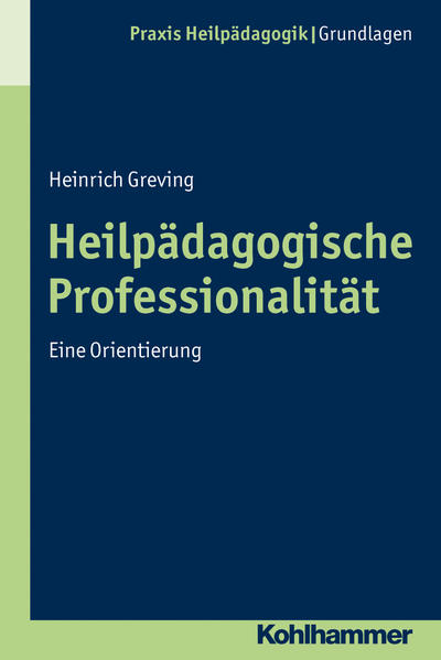 Heilpädagogische Professionalität - Coverbild