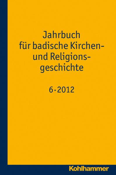 Jahrbuch für badische Kirchen- und Religionsgeschichte - Coverbild