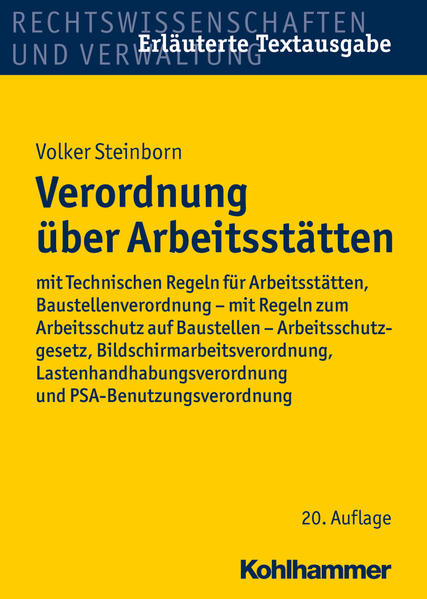 Verordnung über Arbeitsstätten - Coverbild