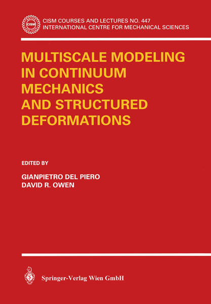 Multiscale Modeling in Continuum Mechanics and Structured Deformations - Coverbild