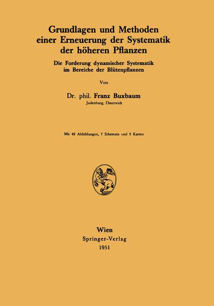 Grundlagen und Methoden einer Erneuerung der Systematik der höheren Pflanzen - Coverbild