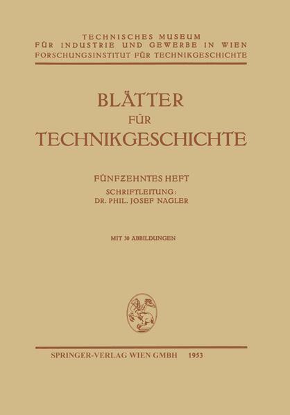 Blätter für Technikgeschichte - Coverbild