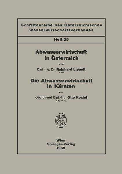 Abwasserwirtschaft in Österreich. Die Abwasserwirtschaft in Kärnten - Coverbild