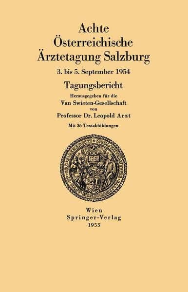 Achte Österreichische Ärztetagung Salzburg - Coverbild