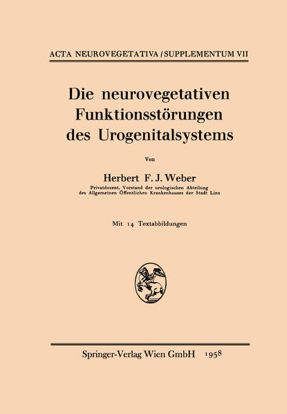 Die neurovegetativen Funktionsstörungen des Urogenitalsystems - Coverbild