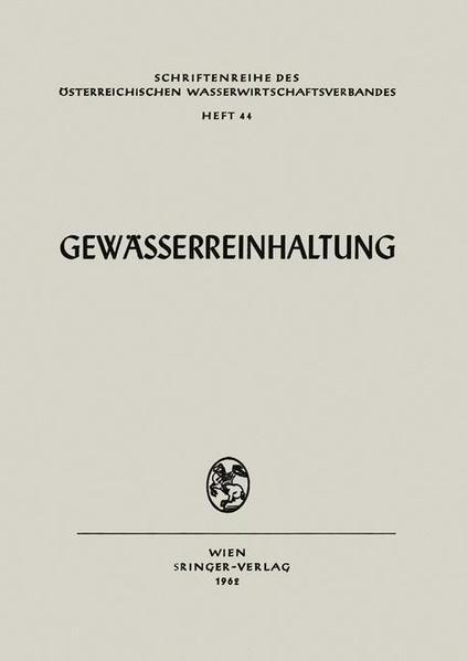 Gewässerreinhaltung - Coverbild