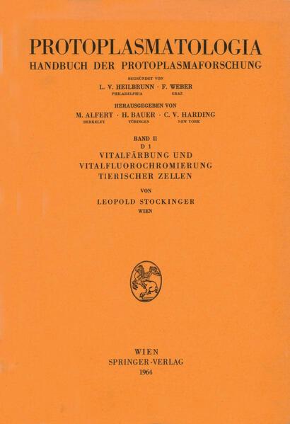 Vitalfärbung und Vitalfluorochromierung Tierischer Zellen - Coverbild
