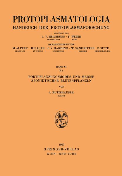 Fortpflanzungsmodus und Meiose Apomiktischer Blütenpflanzen - Coverbild