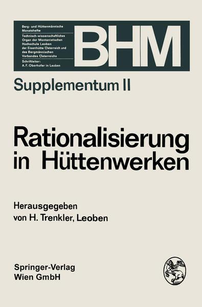 Rationalisierung in Hüttenwerken - Coverbild