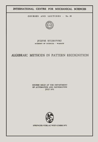 Algebraic Methods in Pattern Recognition - Coverbild