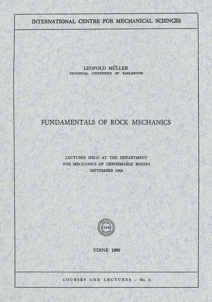 Fundamentals of Rock Mechanics - Coverbild