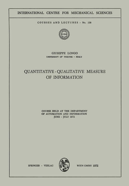Quantitative-Qualitative Measure of Information - Coverbild
