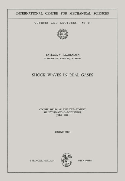 Shock Waves in Real Gases - Coverbild
