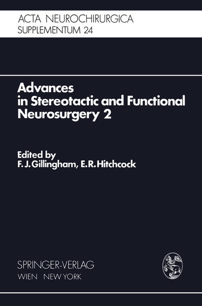Advances in Stereotactic and Functional Neurosurgery 2 - Coverbild