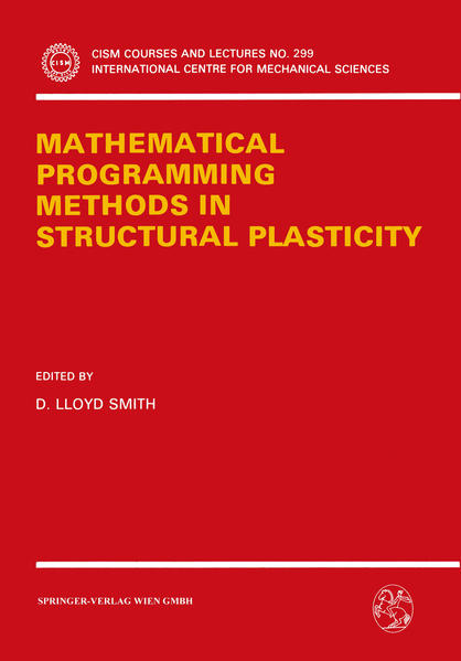 Mathematical Programming Methods in Structural Plasticity - Coverbild