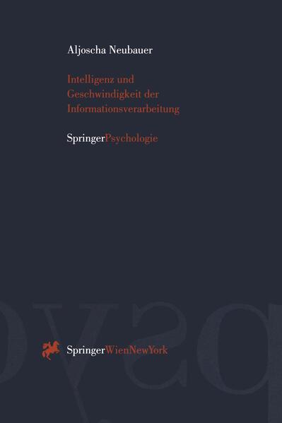 Intelligenz und Geschwindigkeit der Informationsverarbeitung - Coverbild