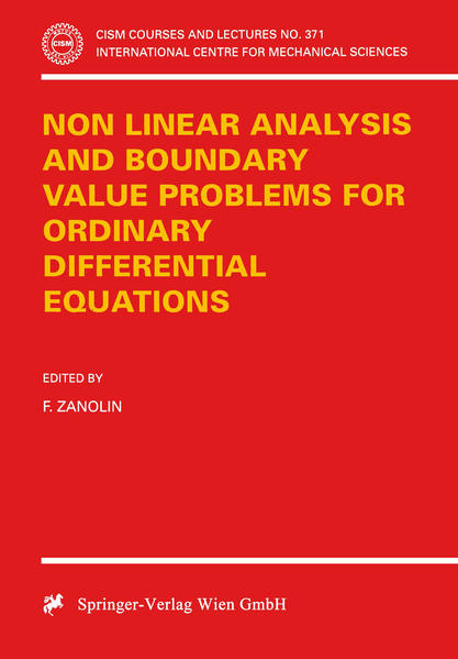 Non Linear Analysis and Boundary Value Problems for Ordinary Differential Equations - Coverbild