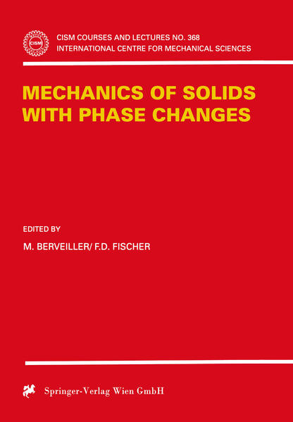 Mechanics of Solids with Phase Changes - Coverbild
