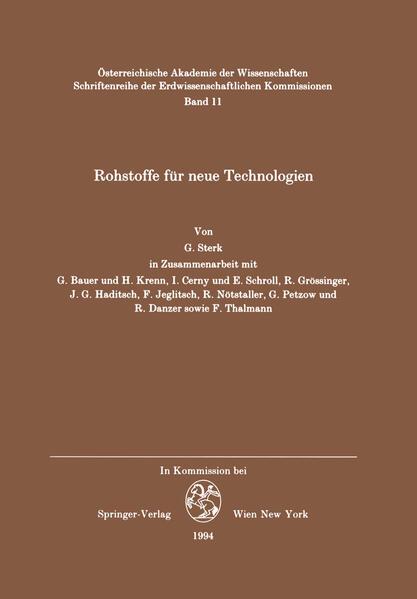 Rohstoffe für neue Technologien - Coverbild