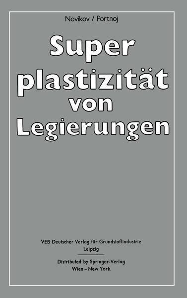 Superplastizität von Legierungen - Coverbild