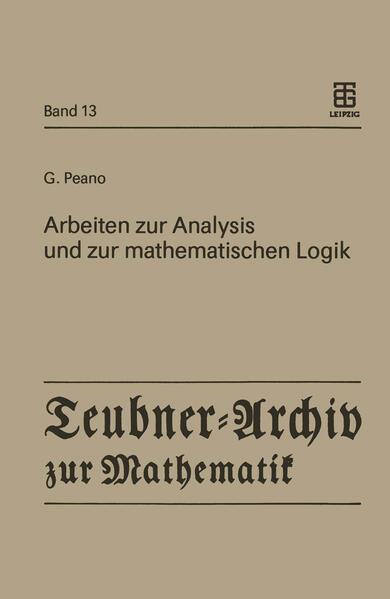 Arbeiten zur Analysis und zur mathematischen Logik - Coverbild
