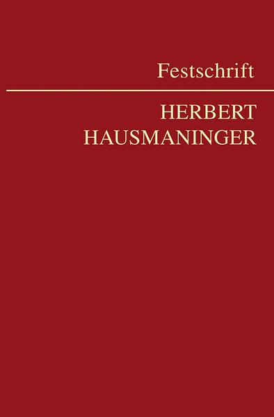 Festschrift für Herbert Hausmaninger - Coverbild