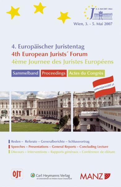 4. Europäischer Juristentag /4th European Jurists' Forum /4ème Journee des Juristes Européens - Coverbild