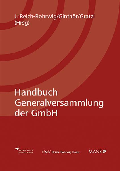 Handbuch Generalversammlung der GmbH - Coverbild