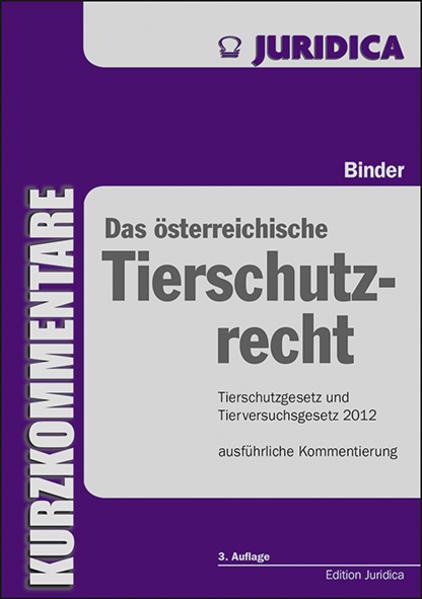 Das österreichische Tierschutzrecht - Coverbild