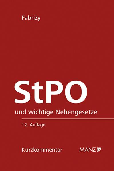StPO Strafprozessordnung - ERGÄNZUNGSHEFT 2016 - Coverbild