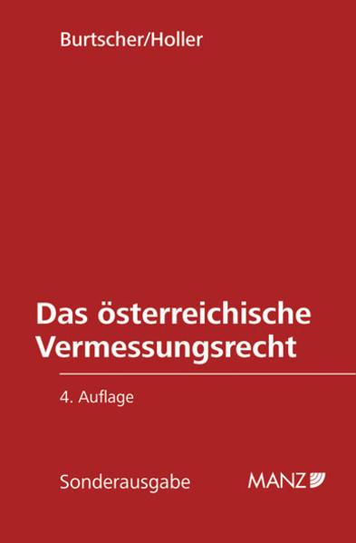 Das österreichische Vermessungsrecht - Coverbild