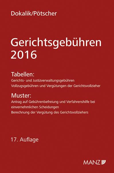 Kostenloser Download Gerichtsgebühren - 2016 PDF