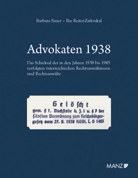 Advokaten 1938 - Coverbild