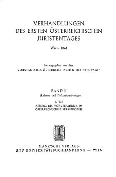 1. Österreichischer Juristentag 1961 Strafrecht - Coverbild