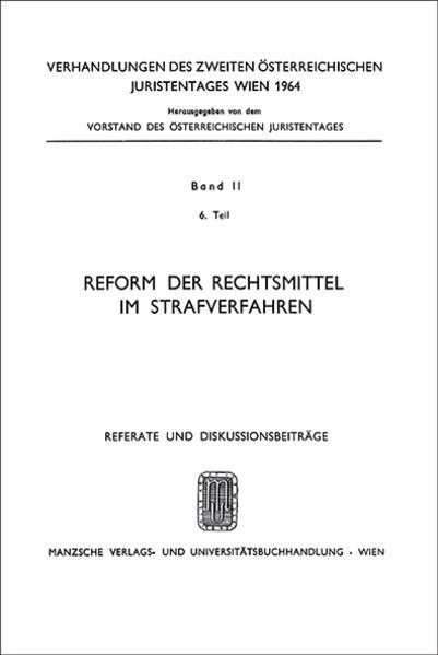 2. Österreichischer Juristentag 1964 Strafrecht - Coverbild