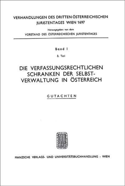 3. Österreichischer Juristentag 1967 Verfassungsrecht - Coverbild