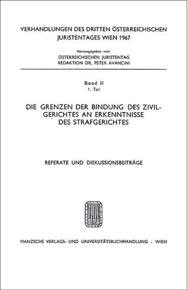 3. Österreichischer Juristentag 1967 Privatrecht - Coverbild
