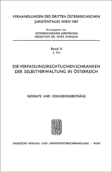 3. Österreichischer Juristentag 1967 Verwaltungsrecht - Coverbild