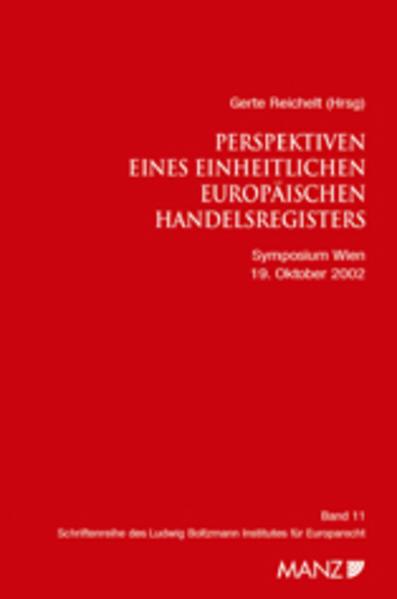 Perspektiven eines Einheitlichen Europäischen Handelsregisters - Coverbild
