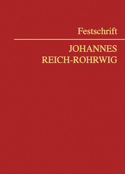 Festschrift Johannes Reich-Rohrwig - Coverbild