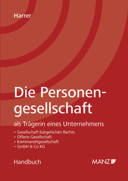 Die Personengesellschaft als Trägerin eines Unternehmens - Coverbild