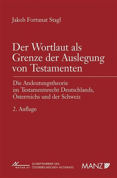 Der Wortlaut als Grenze der Auslegung von Testamenten - Coverbild