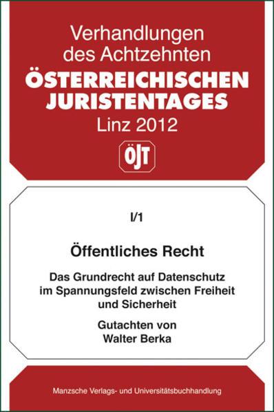 18. Österreichischer Juristentag 2012 Öffentliches Recht - Coverbild