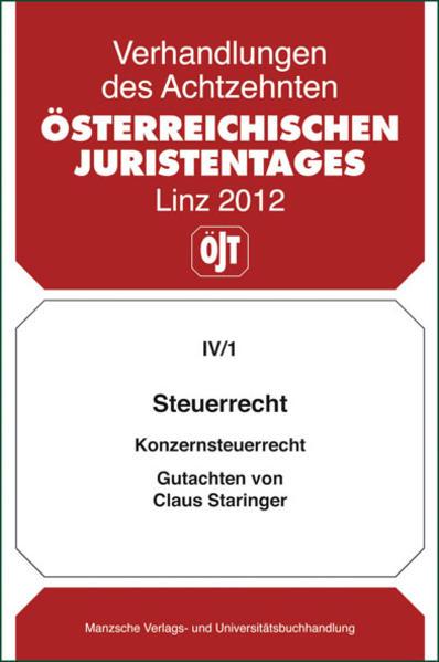 18. Österreichischer Juristentag 2012 Steuerrecht - Coverbild