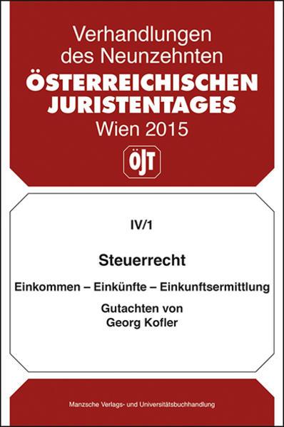 19. Österreichischer Juristentag 2015 Steuerrecht - Coverbild