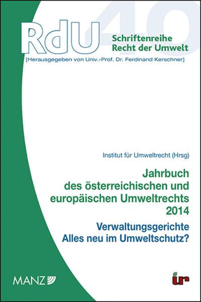Jahrbuch des österreichischen und europäischen Umweltrechts 2014 - Coverbild