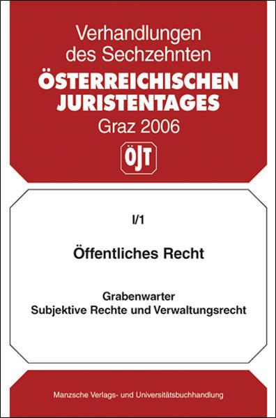 16. Österreichischer Juristentag 2006 Öffentliches Recht - Coverbild