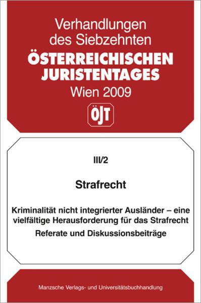 17. Österreichischer Juristentag 2009 Strafrecht - Coverbild