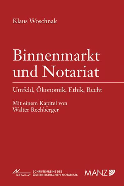 Binnenmarkt und Notariat - Coverbild