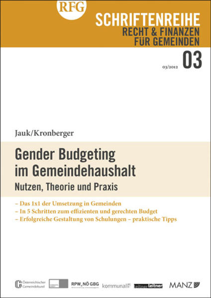 Gender Budgeting im Gemeindehaushalt - Coverbild
